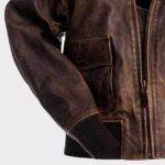 A2 Navy Flight Men Distressed Genuine Brown Leather jacket