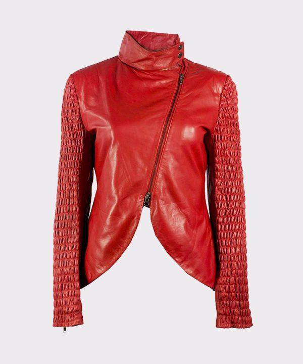 Genuine Lambskin real leather fashion jacket womens
