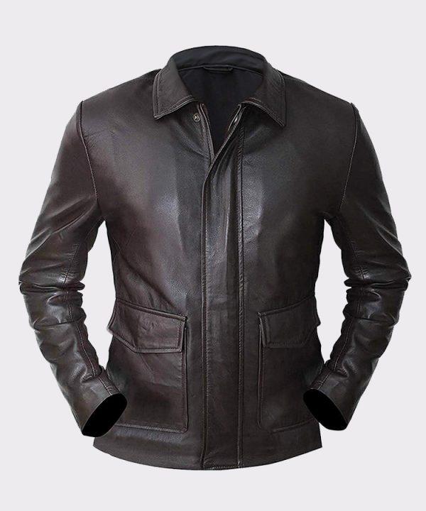 Harrison Indiana Ford Jones Brown Vintage Style Leather Jacket