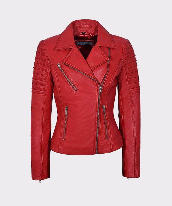 Ladies Real Leather Jacket Stylish Fashion Designer