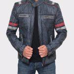 Lambskin Distressed Brown Vintage Mens Leather Jacket