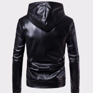 Men Leather Jacket Autumn & Winter Biker Motorcycle Zipper Outwear Warm Coat