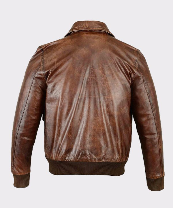 Men's Air Force A-2 Leather Flight Bomber Jacket