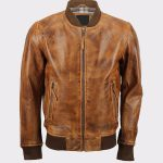 Men's Bomber Lambskin Leather Jacket