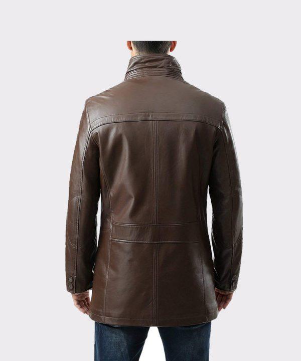 Men's Chad Zealand Lambskin Leather Car Coat