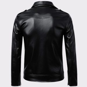 Men's Classic Police Style Real Leather Motorcycle JacketMen's Classic Police Style Real Leather Motorcycle Jacket