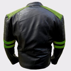 Men's Classic Vintage Motorcycle Green Real Leather Jacket