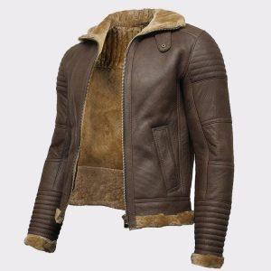 Sheepskin Leather Bomber Flying Aviator Jacket