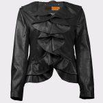 Stylish Ladies leather Blazer Coat Single