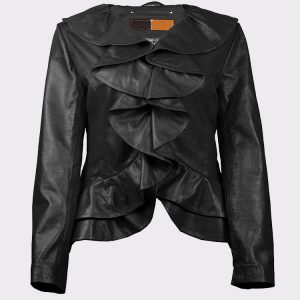 Stylish Ladies leather Blazer Coat Single