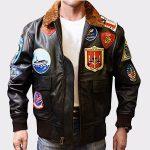 Tom Cruise Bomber Leather Jacket