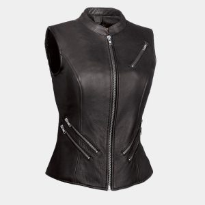 First Manufacturing Co The Fairmont Ladies Black Vest