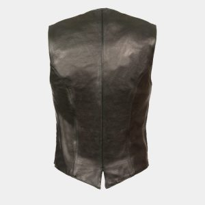 Leather Women's Classic Snap Front Vest