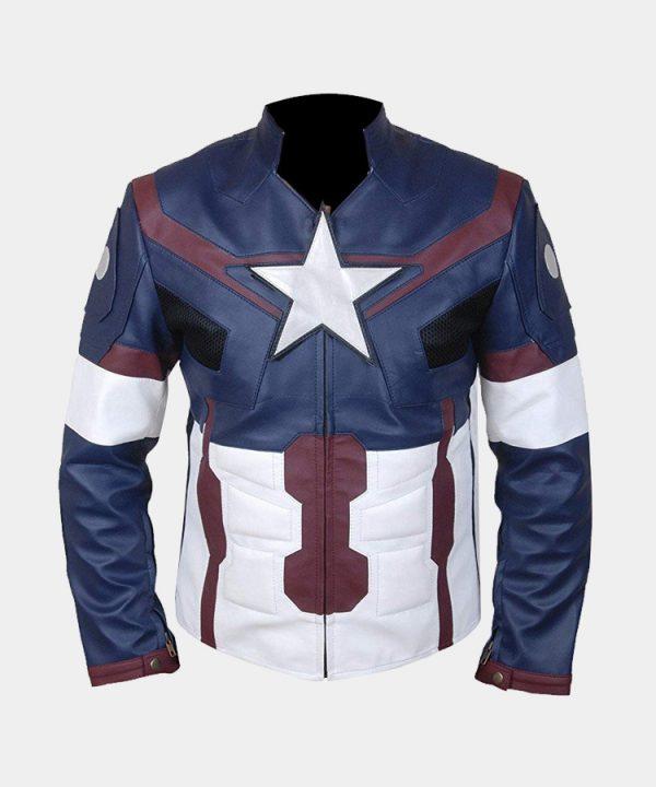 Men's Avengers Age of Ultron Captain America Steve Rogers Jacket