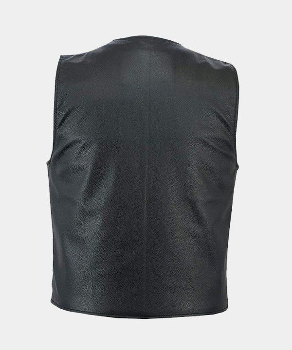 Men's Motorbike Club Style Classic Genuine Leather Vest