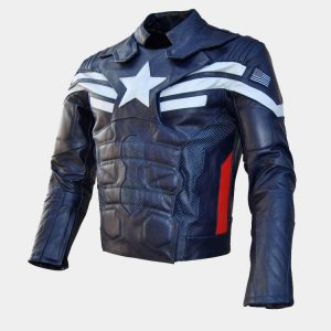 Men's Motorcycle Captain Winter Soldier Leather Jacket