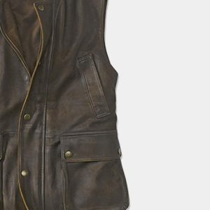 Men's Munitions Leather Vest