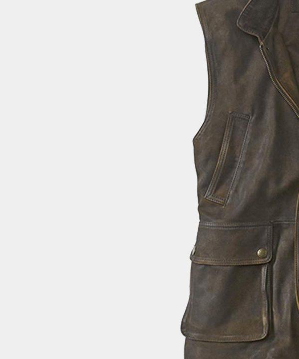 Men's Munitions Leather Vest