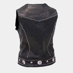 Mini Stud & Concho Zip Vest for Woman