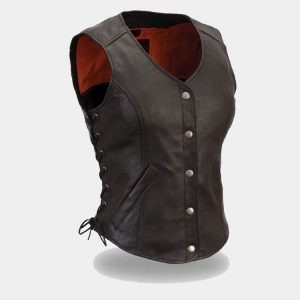 BIKER CLASSIC WOMEN LEATHER VEST