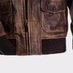6920874f6e1254 A2 Navy Flight Men Distressed Genuine Brown Leather jacket - Mready