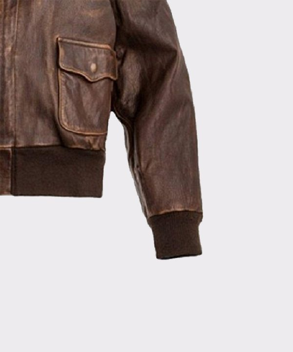 Aviator Men A2 Distressed Brown Real Leather Bomber Flight Jacket