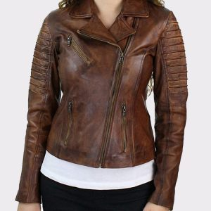 Brown Slim Fit Genuine Real Leather Jacket OuterwearBrown Slim Fit Genuine Real Leather Jacket Outerwear