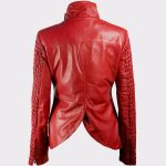 Genuine Lambskin real leather fashion jacket womens