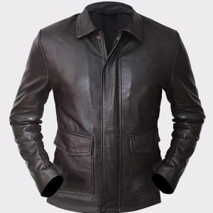 Harrison Indiana Ford Jones Brown Vintage Style Leather Jacket