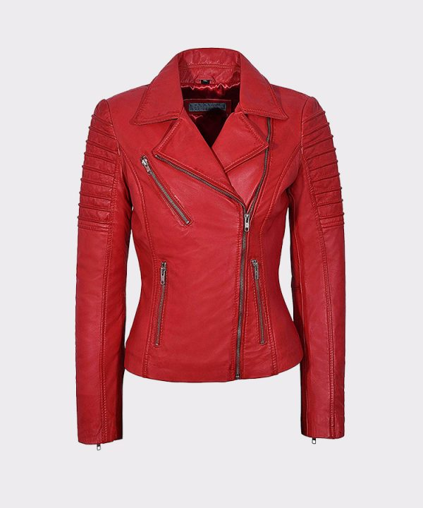 Ladies Real Leather Jacket Stylish Fashion Designer