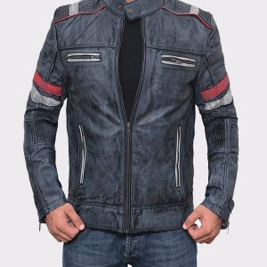 Lambskin Distressed Brown Vintage Mens Leather Jacket