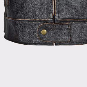 Men Motorcycle Armor Leather Jacket Vintage Style