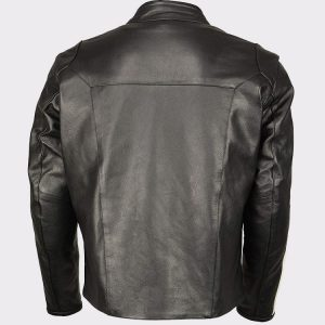 Men's Armored Leather Jacket Racing Stripes