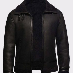 Mens B3 Leather Bomber Jacket