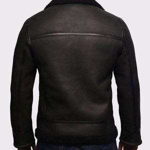 Men's Aviator RAF B3 Black Top Quality Leather Bomber Flying Jacket