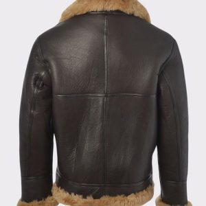 Men's Aviator RAF B3 Bomber Flying Fur Leather Jacket