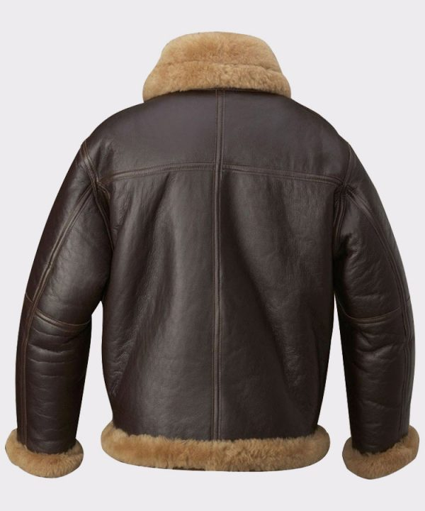 Mens Aviator RAF B3 Top Quality Leather Bomber Flying Jacket