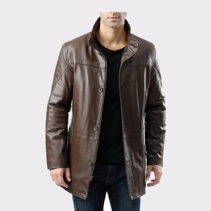 Men's Chad Zealand Lambskin Leather Car Coat
