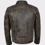 Men's Classic Dirty Brown Real Leather Jacket