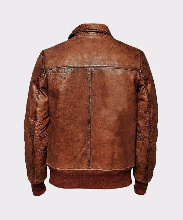 Men's Lambskin Biker Bomber Leather JacketMen's Lambskin Biker Bomber Leather Jacket