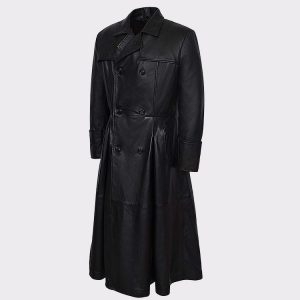 Men's Morpheus Full Length Matrix Leather Jacket Coat