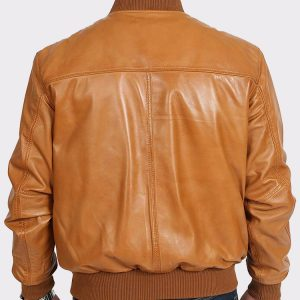 Mens Real Leather Varsity Bomber Sport style jacket