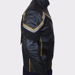 Mens Superhero John Hancock Mens Leather Jacket