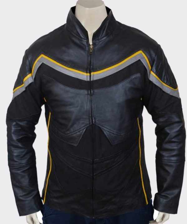 Mens Superhero John Hancock Mens Leather Jacket