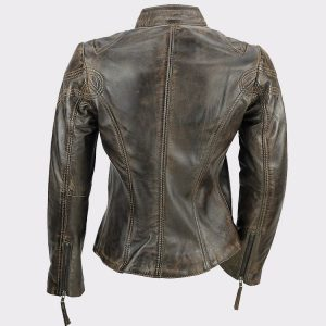 New Ladies Womens Soft Real Leather Vintage Jacket
