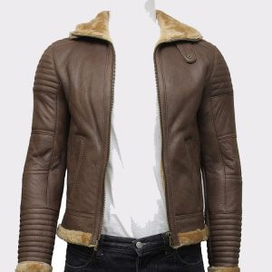 Sheepskin Leather Bomber Flying Aviator Jacket