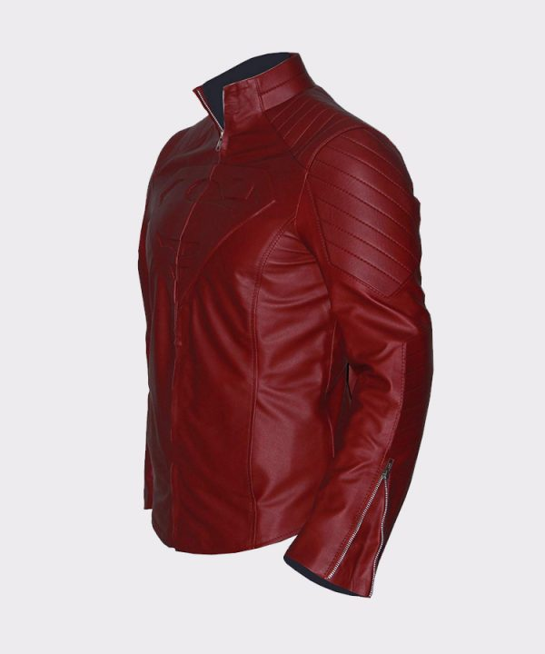 Super The Man Cosplay Faux Leather Costume Comic Superhero Jacket