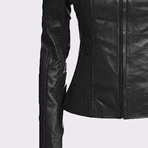 Vintage Women's Slim Biker Motorcycle Real Leather Zipper Jacket