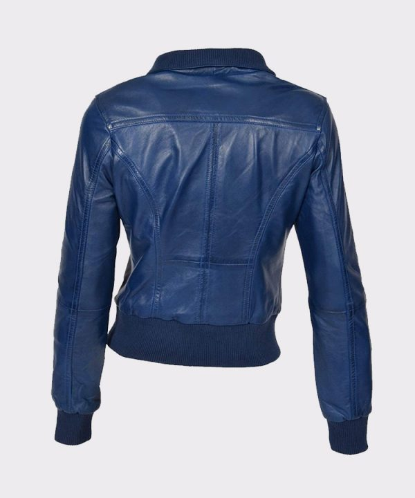 Womens Leather Bomber Jackets Motorcycle