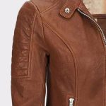Womens Leather Jackets Motorcycle Biker Bomber Real Leather Jackets